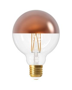 "Ampoule Globe LED ""Calotte Bronze"" 8W E27 Blanc chaud Dimmable"