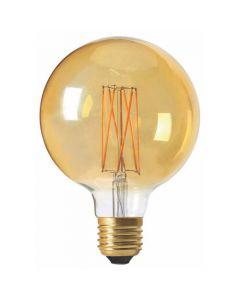 Globe G95 Filament LED 4W E27 Blanc chaud Dimmable Ambré