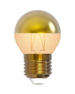 """Ampoule Sphérique G45 Filament LED """"Calotte Dorée"""" 4W E27 Blanc chaud Dimmable"""