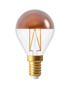 """Ampoule Sphérique G45 LED """"Calotte Bronze"""" 4W E14 Blanc chaud"""