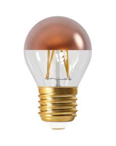 """Ampoule Sphérique G45 Filament LED """"Calotte Bronze"""" 4W E27 2700K 350Lm Dim."""