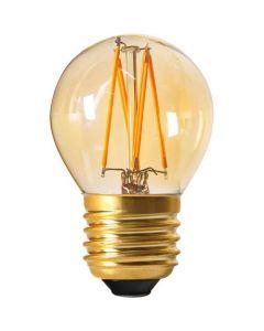 Sphérique G45 Filament LED 4W E27 2200K 260Lm Dimmable Ambrée