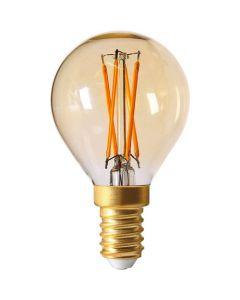 Sphérique G45 Filament LED 4W E14 2200K 260Lm Dimmable Ambrée