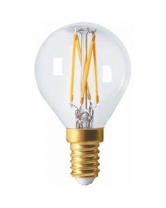 Sphérique G45 Filament LED 4W E14 4000K 350Lm Dimmable Claire