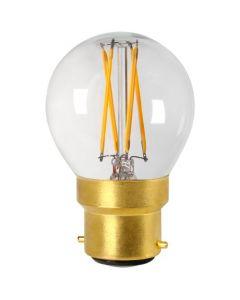 Sphérique G45 Filament LED 4W B22 2700K 350Lm Dimmable Claire
