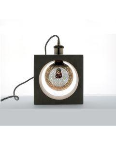Lampe carrée à poser en béton - Douille E27.  40W max