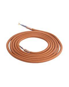 Câble Textile Rond 2x0,75mm2 Double Isolation Marron 2 Mètres