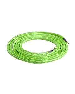 **DIY** Câble Textile Rond 2x0,75mm2 Double Isolation Vert 2 Mètres