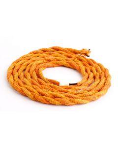 Câble Textile Torsadé 2x0,75mm Orange 2 Mètres