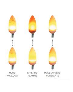 Ampoule Flamme Bougie Vacillante / Multifonction