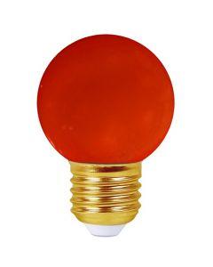 Sphérique LED 1W E27 30Lm Rouge