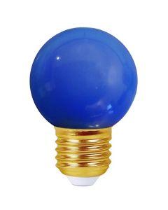 Sphérique LED 1W E27 30Lm Bleu