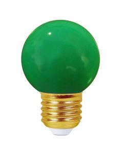 Sphérique LED 1W E27 30Lm Vert