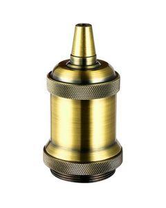 Douille Acier E27 Filetée avec Bague - Bronze doré