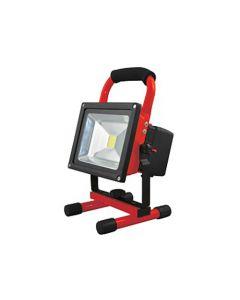 Projecteur LED portatif rechargeable avec USB IP65 20W blanc froid 1000lm 120° rouge