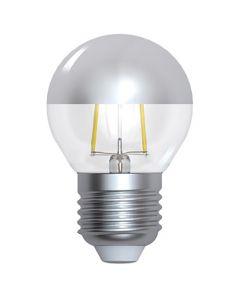 """Ampoule Sphérique G45 Filament LED """"Calotte Argentée"""" 4W E27 Blanc chaud Dimmable"""