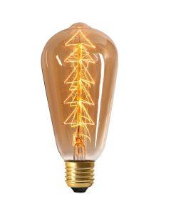 Ampoule Filament métallique SAPIN Edison Ambrée E27