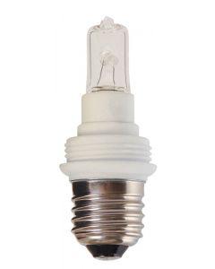 Douille G9 D31.5 Culot E27 + Lampe G9 28W
