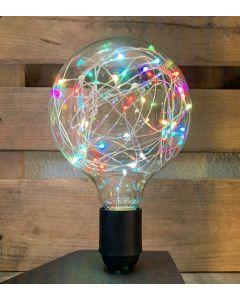 """Ampoule Globe G125 """"Happy in"""" 1,5W E27 RGB (multicolore)"""