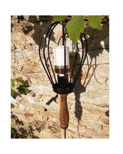Baladeuse Vintage en Bois douille E27 Câble de 5m (vendue sans ampoule)