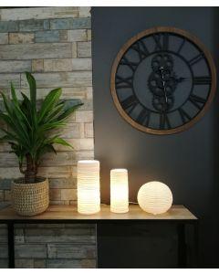 Lampe Porcelaine Boule Blanche E14