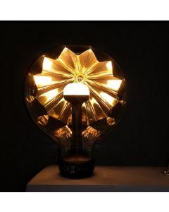 """Ampoule """"L'OMBRAGEUSE"""" Or / Noir LED E27"""