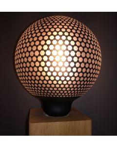 Ampoule Déco Globe Imprimé Hexagone 4W