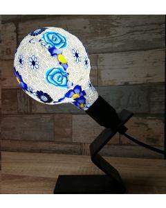 Ampoule Imprimée BLEU Globe LED 4W