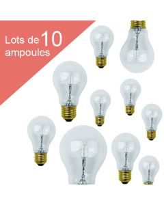 Lot de 10 Standard Eco-Halo 77W E27 Blanc chaud 1326Lm Dimmable
