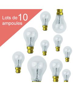 Lot de 10 Standard Eco-Halo 77W B22 Blanc chaud 1326Lm Dimmable