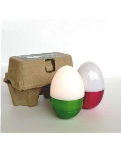 Spécial PAQUES - Lot de 2 œufs LED 2x1W Blanc Froid Piles Incluses