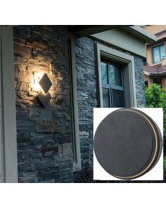 Eclairage résidentiel LED 12.5W 600lumens - Noir - ronde
