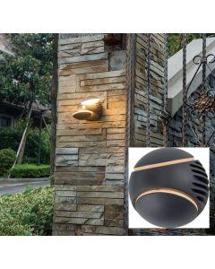 Eclairage résidentiel LED - 10W - noir en forme de boule