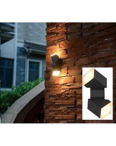 Luminaire design mural LED 12.5W carré Anthracite