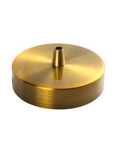 Plafonnier Acier Bronze doré- Une sortie de fil