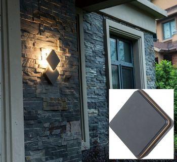 Eclairage résidentiel LED - 12.5W - Noir - Forme carrée