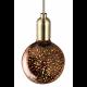 Ampoule Globe G95 LED Cosmos 3D 4W E27- Argent
